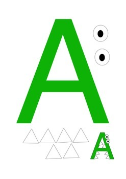 Printable Letter A, B, and C Crafts