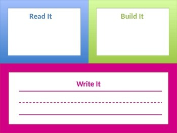 Read, Build, Write Sight Words