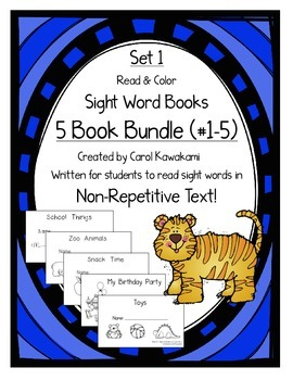 """Sight Word Books: Set 1-""""a, the, see, my, like""""; Sight Wor"""