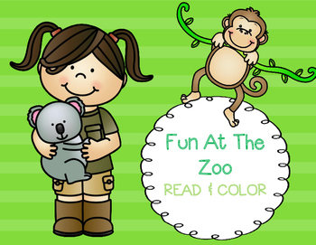 Read & Color  - Fun At The Zoo