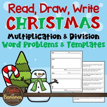 Read, Draw, Write Christmas Multiplication and Division Wo