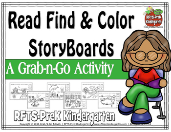 Read Find and Color Storyboards (Grab-n-Go $1 Deal)