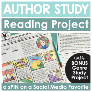 "Author Study Book Project- ""Read It"" Board  (A Spin on a S"