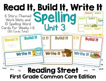 Read It, Build It, Write It Reading Street Common Core Spe