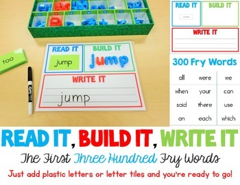 Read It, Build It, Write It - The First Three Hundred Fry Words
