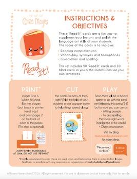 READ IT! Language Art Mini Flashcards