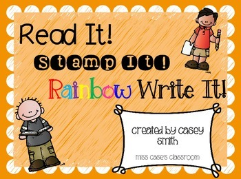 Read, Stamp, Rainbow Write It! Word Work for Spelling, Sig