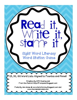 Read It, Stamp It, Write It Sight Word Game (FULL SET)