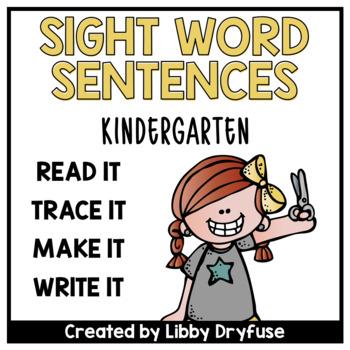 Read It, Trace It, Write It, Make It - Sight Word Sentence
