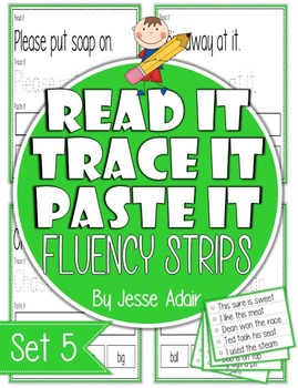 Read It, Trace It, and Paste It Fluency Strips Set 5