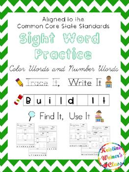 Sight Word Freebie {Trace It, Write It, Build It, Find It,
