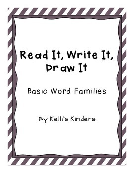 Read It, Write It, Draw It- Word Families