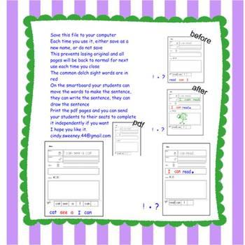 Read It - Write It - Draw it- Smartboard Style!