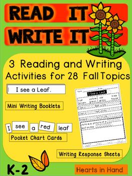 Read It! Write It! Fall Writing Activities K-2