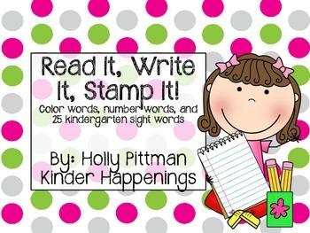 Read It, Write It, Stamp It!