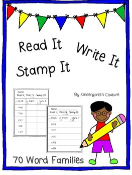 Read It, Write It, Stamp It - 70 Word Families
