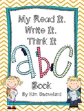 Read It, Write It, Think It!  Alphabet Journal