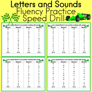 Buliding Fluency with Letters and Sounds Speed Racing Game