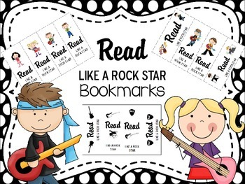 Read Like A Rock Star bookmarks