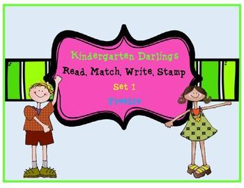 Read, Match, Stamp, Write Sight Word Set 1 Freebie