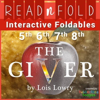 The Giver Foldables and Activities - Read N Fold