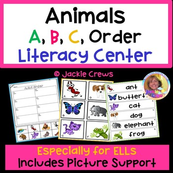 Animal A,B,C Order Literacy Game
