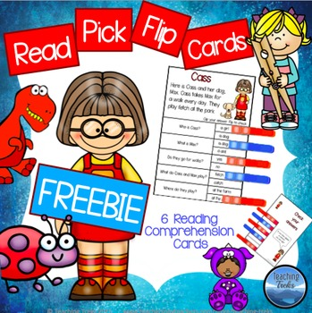 Reading Comprehension Passages: FREE Clothespin Reading Ac