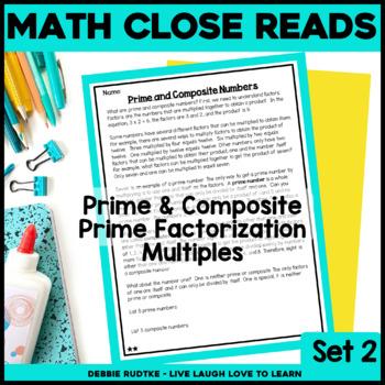 Read & Respond About Math ~Vol.2~ Prime/Composite, Factori