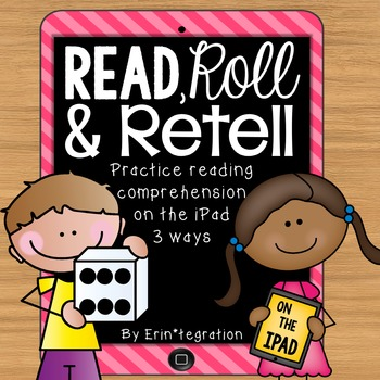 iPad QR Reading Response Dice Game for Centers - Read, Rol