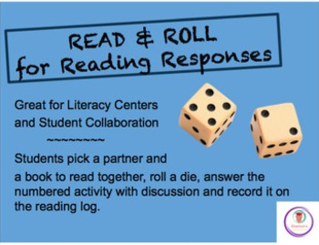 Read & Roll for Reading Responses, Literacy Centers, Stude