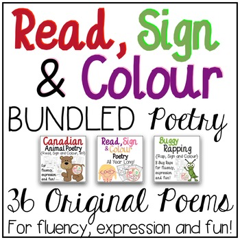 Read, Sign and Colour BUNDLED Poetry {Reading, Fluency, an