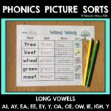 Read, Spell, Write Long Vowel, Vowel Team Word Sorts
