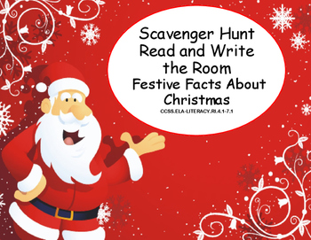 Read The Room- Festive Facts About Christmas-Scavenger Hun