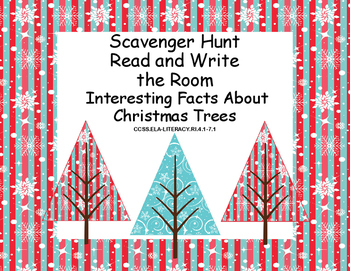 Reading- Interesting Facts About Christmas Trees-Scavenger