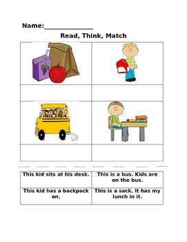 Read, Think, Match