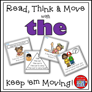 Sight Word Activities - Read, Think & Move Task Cards - THE