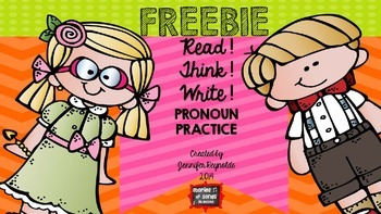 Read! Think! Solve! Write--Freebie