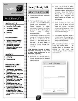 Read, Think, Talk – Key Details Activity