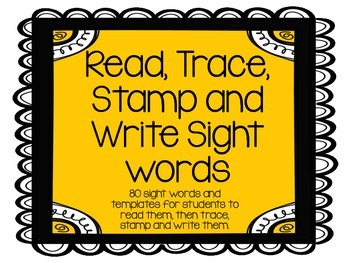 Read, Trace, Stamp and Write Sight word pack