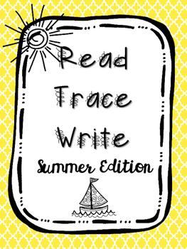 Read Trace Write Summer Handwriting Practice