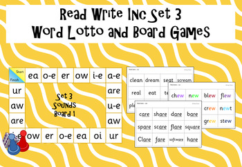 Read Write Inc - Set 3 Sound Bingo and Board game
