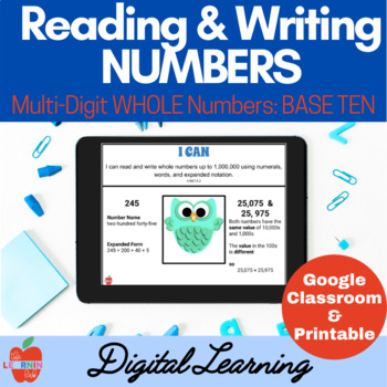 Read & Write Numbers BASE TEN: Standard, Word, Expanded Form