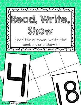 Read, Write, Show: Math Workshop Activity