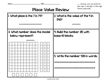 Read, Write, and Identify Place-Value in Two- and Three-Di