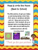 Read & Write the Room   {Back to School}