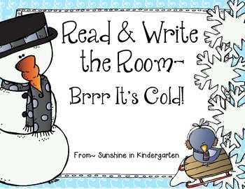 Read & Write the Room - Brrr It's Cold!