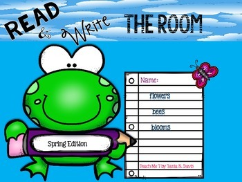 Read & Write the Room {Spring Edition}