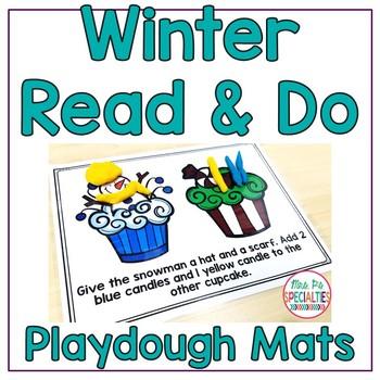 Read and Do Playdough Mats: Winter Edition