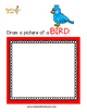 Read and Draw Single Word Vocabulary Printable: BIRD