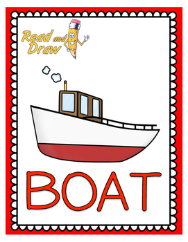 Read and Draw Single Word Vocabulary Printable: BOAT